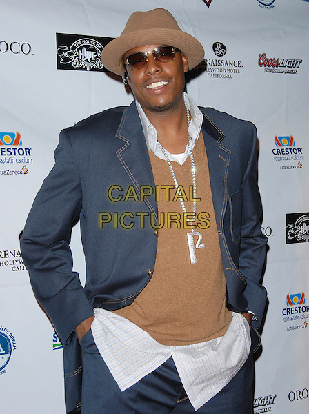 PAUL PIERCE.Burn The Fields attends A Midsummer Night's Dream Concert held at The House of Blues in West Hollywood, California, USA, July 8, 2006..half 3/4 length hat necklace P letter initial.Ref: DVS.www.capitalpictures.com.sales@capitalpictures.com.©Debbie VanStory/Capital Pictures