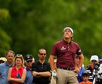 Phil Mickelson during the third round action of the Quail Hollow Championship at Quail Hollow Country Club on May 2, 2010 in Charlotte, North Carolina.  The event, formerly called the Wachovia Championship, is a top event on the PGA Tour, attracting such popular golf icons as Tiger Woods, Vijay Singh and Bubba Watson. Photo from the final round in the Quail Hollow Championship golf tournament at the Quail Hollow Club in Charlotte, N.C., Sunday , May 03, 2009..