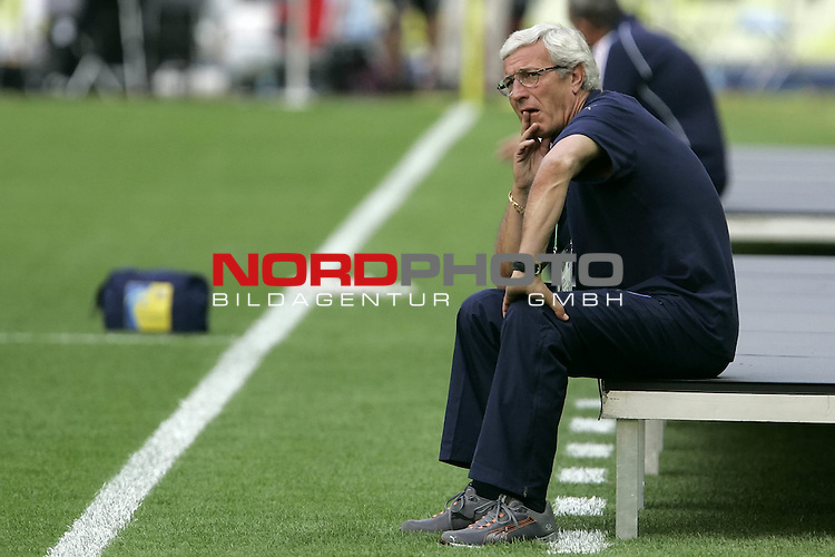 FIFA WM 2006 - Final / Finale<br /> Play #64 (09-Jul) - Italy vs France.<br /> <br /> Marcello LIPPI<br /> <br /> Italy is World Champion / Weltmeister 2006 mit dem Pokal / Trophy after the match of the World Cup in Berlin.<br /> <br /> <br /> Foto &copy; nordphoto
