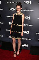 LOS ANGELES - JUL 9:  Rachel Brosnahan at the WGN Series Manhattan Photo Op July 2014 TCA at the Beverly Hilton Hotel on July 9, 2014 in Beverly Hills, CA