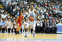 CHAPEL HILL, NC - NOVEMBER 01: Christian Keeling #55 of the University of North Carolina drives the lane during a game between Winston-Salem State University and University of North Carolina at Dean E. Smith Center on November 01, 2019 in Chapel Hill, North Carolina.