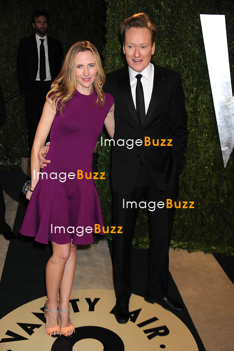 2/24/13.Conan O'Brien and wife at the Vanity Fair Oscar Party..(West Hollywood, CA).
