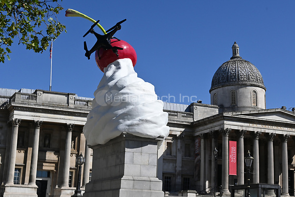 London, UK - 30 July 2020<br /> Heather Phillipson's new sculpture THE END unveiled on the Fourth Plinth in London's Trafalgar Square. <br /> <br /> <br /> <br /> <br /> CAP/JOR<br /> ©JOR/Capital Pictures /MediaPunch **NORTH AMERICAS ONLY**
