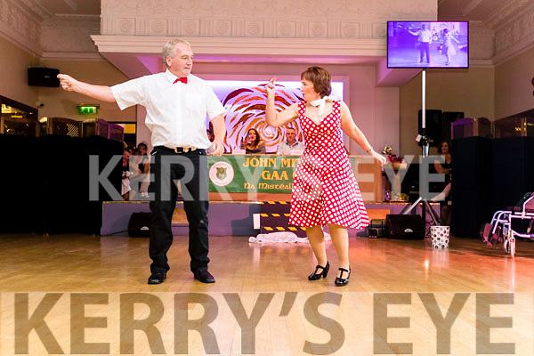 Dancers Mary Dolan and Frank O'Donnell pictured at the John Mitchel's Strictly Come Dancing at the Ballygarry House Hotel on Sunday night.