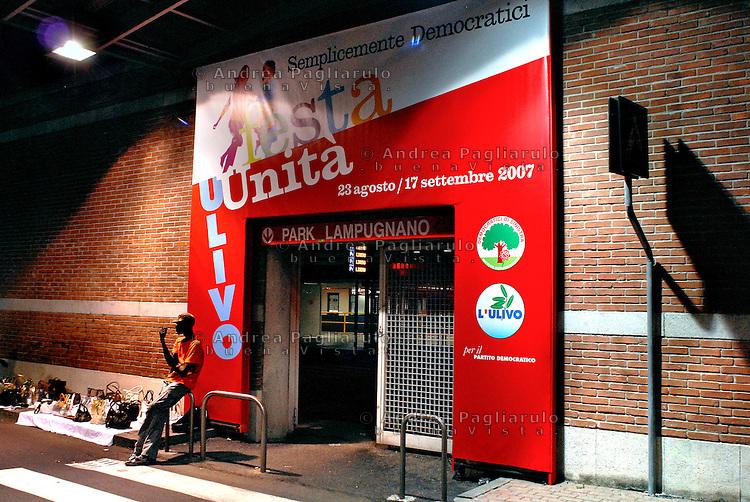 Italia, Milano, festa de l'Unità.