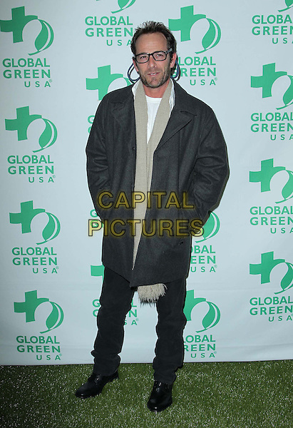 Luke Perry.10th Annual Global Green USA Pre-Oscar Party held at Avalon, Hollywood, California, USA..20th February 2013.full length glasses grey gray scarf beard facial hair  black trousers hands in pockets .CAP/ADM/KB.©Kevan Brooks/AdMedia/Capital Pictures.