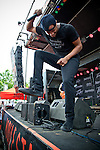 Gabriel Cavazos of American Fangs performs during the 2013 Rock On The Range festival at Columbus Crew Stadium in Columbus, Ohio.