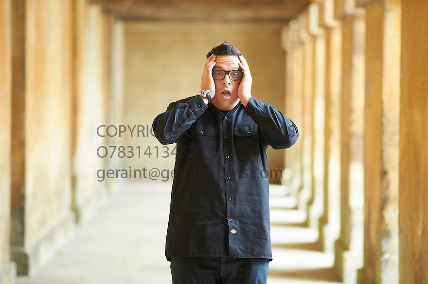 Dom Joly,Commedian on Televisions Trigger Happy,and author at Blenheim Palace at The Woodstock Literary Festival 2010 .CREDIT Geraint Lewis