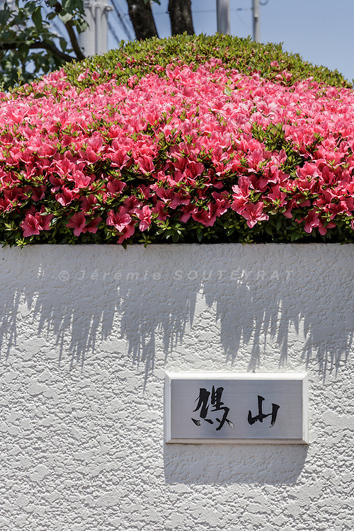 Tokyo, Japan, June 3 2016 - Former Prime Minister Yukio Hatoyama's residence seen from the street.