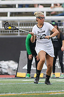 Towson, MD - March 25, 2017: Towson Tigers Jenna Kerr (22) attempts a shot during game between Towson and Oregon at  Minnegan Field at Johnny Unitas Stadium  in Towson, MD. March 25, 2017.  (Photo by Elliott Brown/Media Images International)