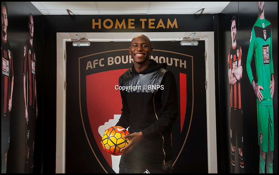 BNPS.co.uk (01202 558833)<br /> Pic: PhilYeomans/BNPS<br /> <br /> C2JVYF - Sport<br /> <br /> AFC Bournemouth striker Benik Afobe interview ahead of the clash with Arsenal at the weekend.