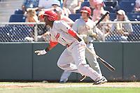 July 11, 2010: Spokane Indians' Alejandro Selen (1) at-bat during a Northwest League game against the Everett AquaSox at Everett Memorial Stadium in Everett, Washington.