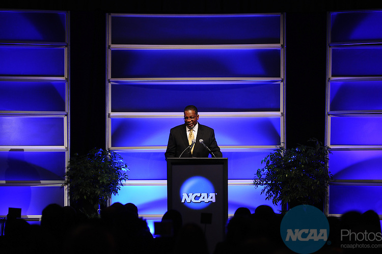12 JAN 2012:  The NCAA Association Luncheon presented by the NCAA Office of Inclusion held during the 2012 NCAA Convention held at the JW Marriott and Indianapolis Convention Center in Indianapolis, IN.  Joshua Duplechian/NCAA Photos.Pictured: Bernard Franklin