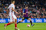 Sergi Roberto Carnicer of FC Barcelona in action during the La Liga 2018-19 match between FC Barcelona and Sevilla FC at Camp Nou Stadium on October 20 2018 in Barcelona, Spain. Photo by Vicens Gimenez / Power Sport Images