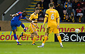 CALEY'S GREGORY TADE SCORES INVERNESS' GOAL..14/01/2012 sct_jsp004_motherwell_v_ict     .Copyright  Pic : James Stewart.James Stewart Photography 19 Carronlea Drive, Falkirk. FK2 8DN      Vat Reg No. 607 6932 25.Telephone      : +44 (0)1324 570291 .Mobile              : +44 (0)7721 416997.E-mail  :  jim@jspa.co.uk.If you require further information then contact Jim Stewart on any of the numbers above.........
