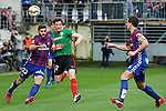 Football match during La Liga with the teams Eibar &. Athletic Club<br /> guillermo fight the ball with rodriguez navas<br /> PHOTOCALL3000
