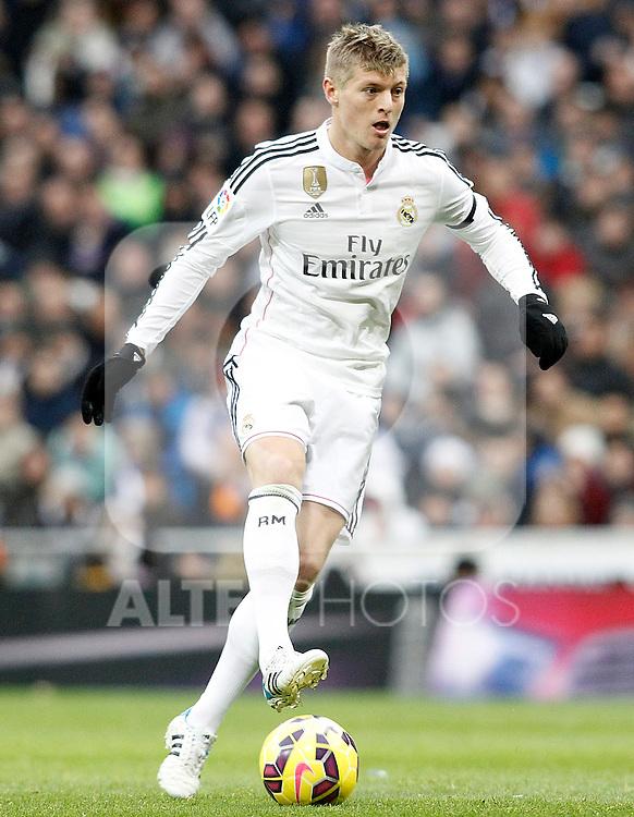 Real Madrid's Toni Kroos during La Liga match.January 31,2015. (ALTERPHOTOS/Acero)