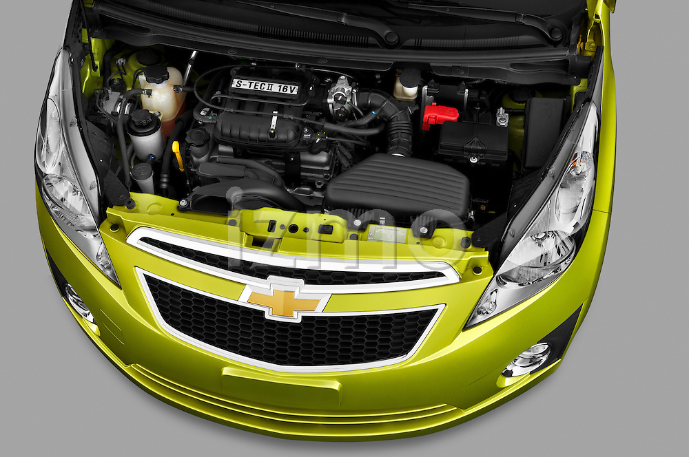 High angle engine detail of a 2011 Chevrolet Spark LS 5 Door Hatchback  .
