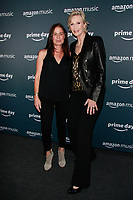 NEW YORK, NY - JULY 10: Maura Tierney and Jane Lynch at Amazon's Prime Day Concert at Hammerstein Ballroom  on July 10, 2019 in New York City.<br /> CAP/MPI/DC<br /> ©DC/MPI/Capital Pictures