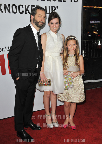 """Director Judd Apatow & daughters Iris & Maude at the world premiere of their movie """"This Is 40"""" at Grauman's Chinese Theatre, Hollywood..December 12, 2012  Los Angeles, CA.Picture: Paul Smith / Featureflash"""