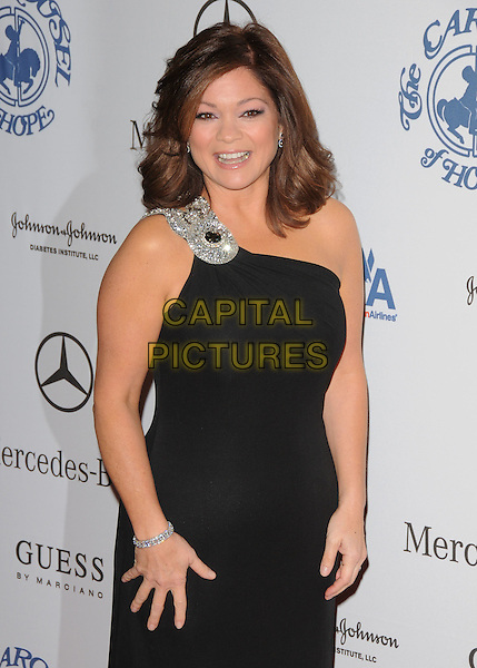 VALERIE BERTINELLI .attends The 30th Anniversary Carousel of Hope Ball Presented by Mercedes-Benz held at The Beverly Hilton Hotel in Beverly Hills, California, USA,.October 25th 2008..half length black dress one shoulder silver beaded .CAP/DVS.©Debbie VanStory/Capital Pictures