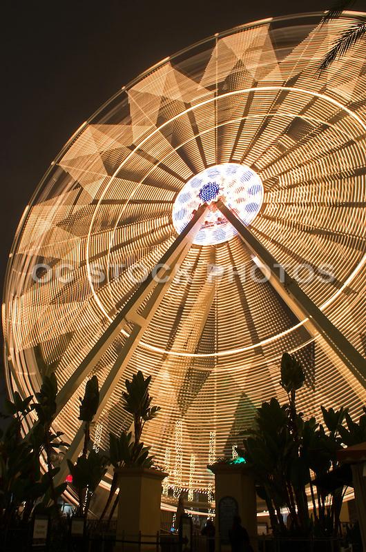 Irvine Spectrum Ferris Wheel at Night