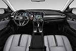 Stock photo of straight dashboard view of 2016 Honda Civic Touring CVT 4 Door Sedan Dashboard