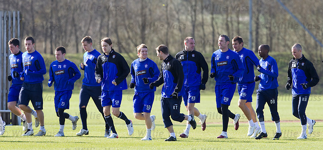 Rangers training at Murray Park