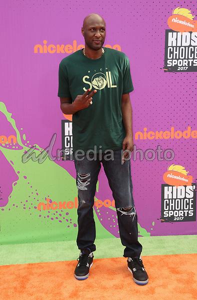 13 July 2017 - Los Angeles, California - Lamar Odom. Nickelodeon Kids' Choice Sports Awards 2017 held at Pauley Pavilion. Photo Credit: F. Sadou/AdMedia