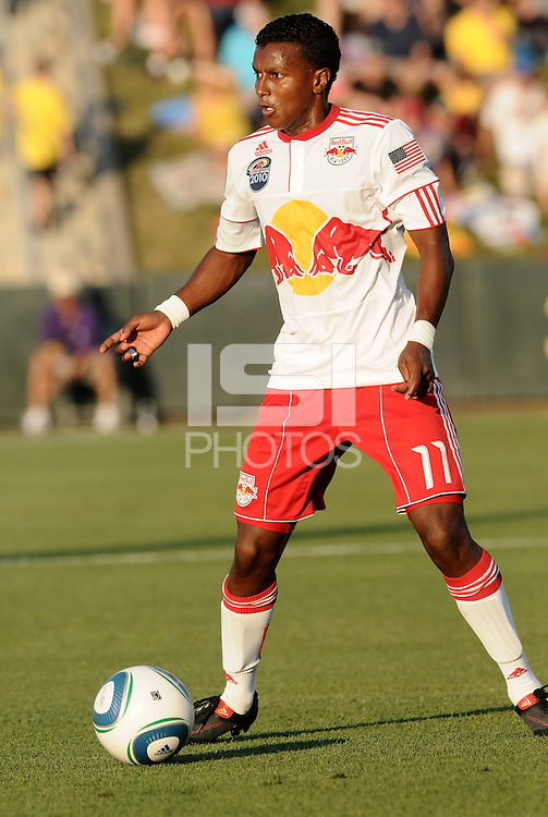 Danleigh Borman..Kansas City Wizards were defeated 3-0 by New York Red Bulls at Community America Ballpark, Kansas City, Kansas.