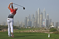 Jacques Kruyswijk (RSA) on the 8th tee during Round 2 of the Omega Dubai Desert Classic, Emirates Golf Club, Dubai,  United Arab Emirates. 25/01/2019<br /> Picture: Golffile | Thos Caffrey<br /> <br /> <br /> All photo usage must carry mandatory copyright credit (© Golffile | Thos Caffrey)