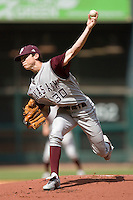 Brooks Raley #30 of the Texas A&M Aggies in action versus the UC-Irvine Anteaters  in the 2009 Houston College Classic at Minute Maid Park February 27, 2009 in Houston, TX.  The Aggies defeated the Anteaters 9-2. (Photo by Brian Westerholt / Four Seam Images)