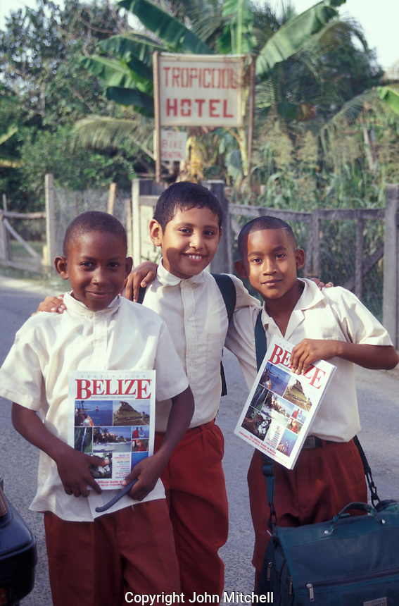 School boys in the town of San Ignacio, Cayo District, Belize