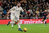 Real Madrid's Dani Carvajal during La Liga match between Real Madrid and Valencia CF at Santiago Bernabeu Stadium in Madrid, Spain. December 01, 2018. (ALTERPHOTOS/A. Perez Meca) /NortePhoto NORTEPHOTOMEXICO