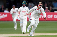 Simon Harmer of Essex celebrates taking the wicket of Chris Nash during Essex CCC vs Nottinghamshire CCC, Specsavers County Championship Division 1 Cricket at The Cloudfm County Ground on 16th May 2019