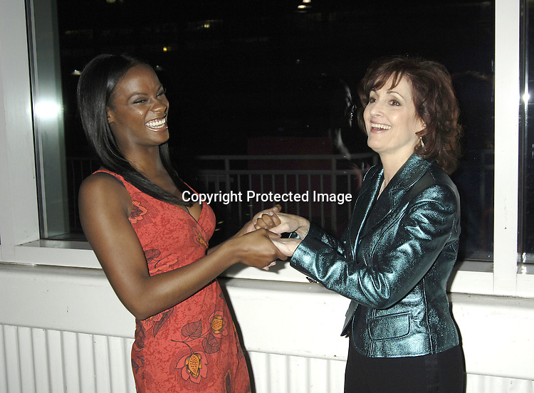 Tika Sumpter and Robin Strasser of One Life to Live ..at ABC Casino Night on October 27, 2005 at The Lighthouse at Chelsea Piers. ..Photo by Robin Platzer, Twin Images