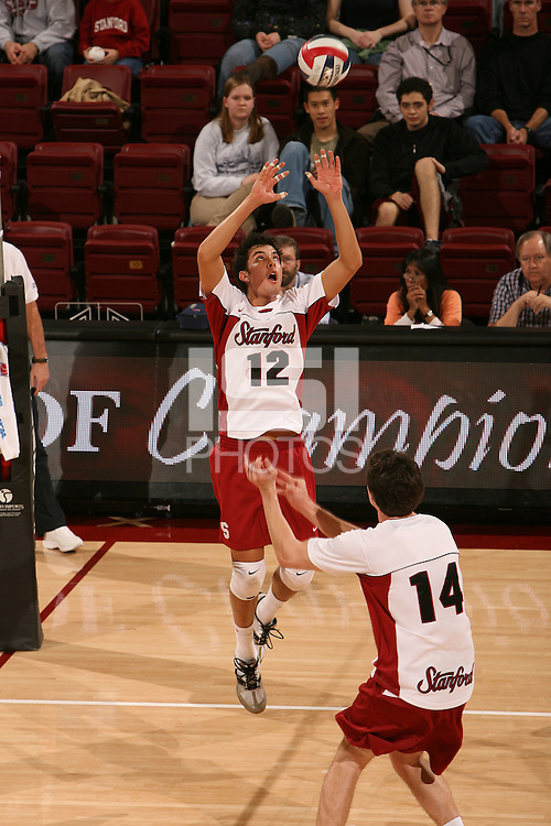 STANFORD, CA - JANUARY 30:  Kawika Shoji of the Stanford Cardinal during Stanford's 3-2 win over the Long Beach State 49ers on January 30, 2009 at Maples Pavilion in Stanford, California.