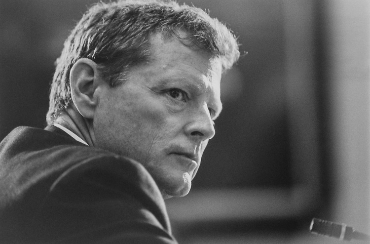 Rep. Jim Inhofe, R-Okla., glaring at Joe Moakley before a House Rules Committee Hearing on Sep. 16,1993. (Photo by Laura Patterson/CQ Roll Call via Getty Images)