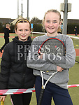 Eva Berney and Emily Darcy at the Laytown and Bettystown Tennis Club Promotion day. Photo:Colin Bell/pressphotos.ie