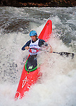 November 5, 2016 - Hendersonville, North Carolina, Kayaker, Tad Dennis, drops into the Scream Machine Rapids during the 21st annual Green Race.The Green River Narrows provides one of the most intense and extreme whitewater venues in the world and is home to many of the USA's most talented paddlers.  Green River Narrows, Hendersonville, North Carolina.