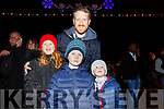 The Nolan Family from Tralee at the fireworks display in Denny St on New Years Eve<br /> L-r, Grace, Oisin, Ollie and Kenneth Nolan.