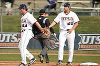SAN ANTONIO, TX - FEBRUARY 26, 2013: The University of Texas Pan American Broncos vs. the University of Texas at San Antonio Roadrunners Baseball at Roadrunner Field. (Photo by Jeff Huehn)