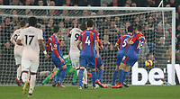 Manchester United's Romelu Lukaku scores his side's first goal  <br /> <br /> Photographer Rob Newell/CameraSport<br /> <br /> The Premier League - Wednesday 27th February 2019  - Crystal Palace v Manchester United - Selhurst Park - London<br /> <br /> World Copyright © 2019 CameraSport. All rights reserved. 43 Linden Ave. Countesthorpe. Leicester. England. LE8 5PG - Tel: +44 (0) 116 277 4147 - admin@camerasport.com - www.camerasport.com