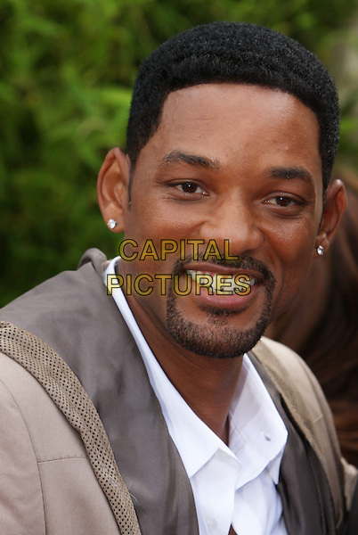 "WILL SMITH.""The Karate Kid"" Los Angeles Premiere held at Mann's Village Theatre, Westwood, California, USA, .7th June 2010. .headshot portrait beige white goatee facial hair smiling.CAP/ADM/CH.©Charles Harris/AdMedia/Capital Pictures"