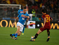 Marek Hamsik  during the  italian serie a soccer match, AS Roma -  SSC Napoli       at  the Stadio Olimpico in Rome  Italy , 14 ottobre 2017