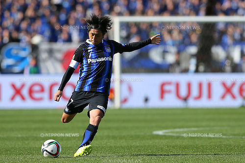 Yasuhito Endo (Gamba), <br /> FEBRUARY 28, 2015 - Football / Soccer : <br /> FUJI XEROX Super Cup 2015 <br /> match between <br /> Gamba Osaka 2-0 Urawa Red Diamonds <br /> at Nissan Stadium in Kanagawa, Japan. <br /> (Photo by Yohei Osada/AFLO SPORT) [1156]