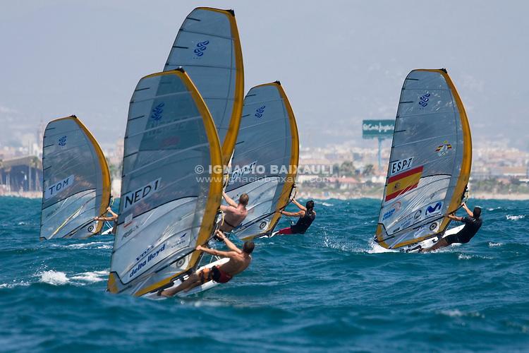 Start - MASTER GOLDEN SERIES RS:X VALENCIA, Since 3 to 8 July 2008, Marina Juan Carlos I, Valencia,Spain