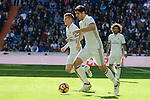 Real Madrid's player Alvaro Morata, Toni Kroos and Marcelo during a match of La Liga at Santiago Bernabeu Stadium in Madrid. November 06, Spain. 2016. (ALTERPHOTOS/BorjaB.Hojas)