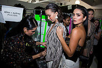 NEW YORK, NY- SEPTEMBER 6: Andrea and Eliana Salazar get ready before the  Seta Apparel show during the New York Fashion Week at Pier 59 studios on September 6, 2019 in New York City. (Photo by Pablo Monsalve / VIEWpress )
