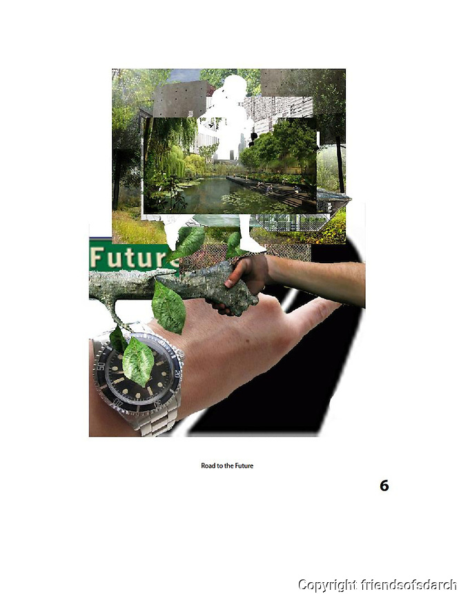 Entry for John Ingram, NSAD for FSDA Collage Competition, 2015. Road to the Future.